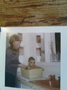 My mother & me shortly after adopting me at 5 months old